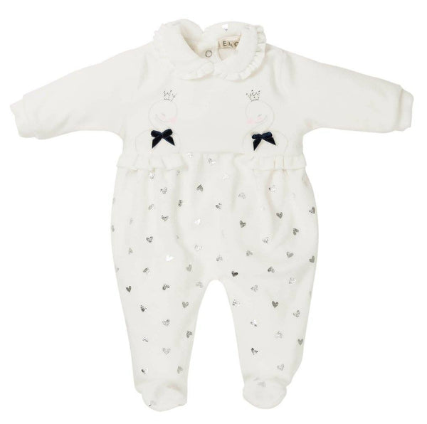 EMC AW19 Girls White Heart and Swan All in One 6280
