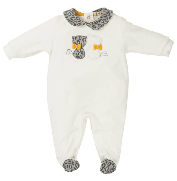 EMC AW19 Girls Grey and Mustard Cat All in One 6293