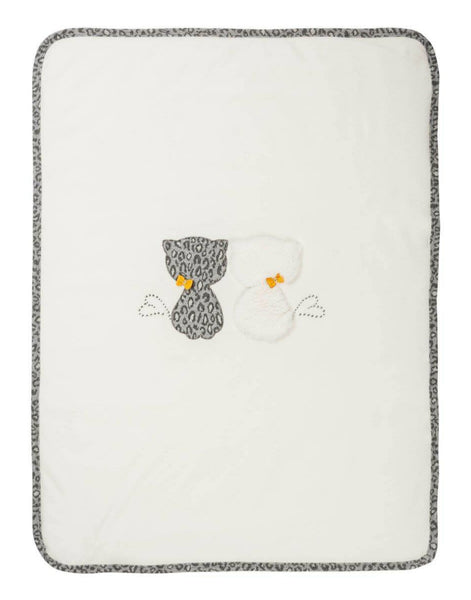 EMC AW19 White And Grey Cat Baby Fleece Blanket 1100 (4167128940642)