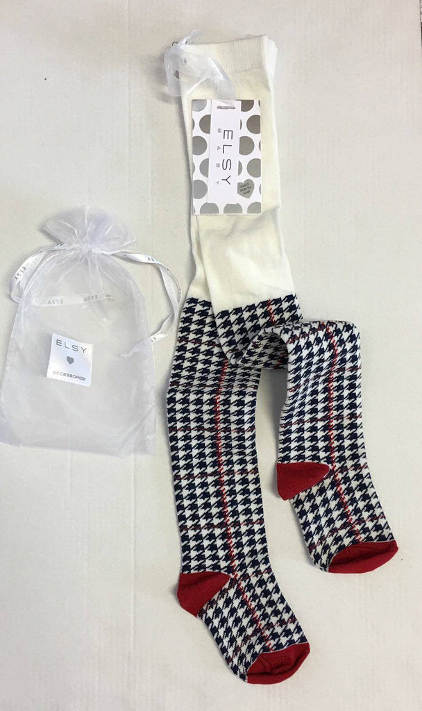 Elsy Navy Check Tights 0872 - Bumkins Designer Kids (9894604241)