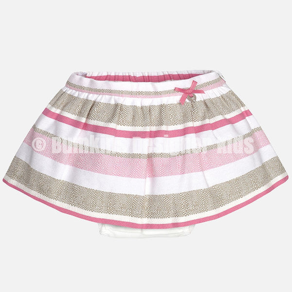 Mayoral Baby girl striped skirt with bow 1901 - Bumkins Designer Kids (8615080273)