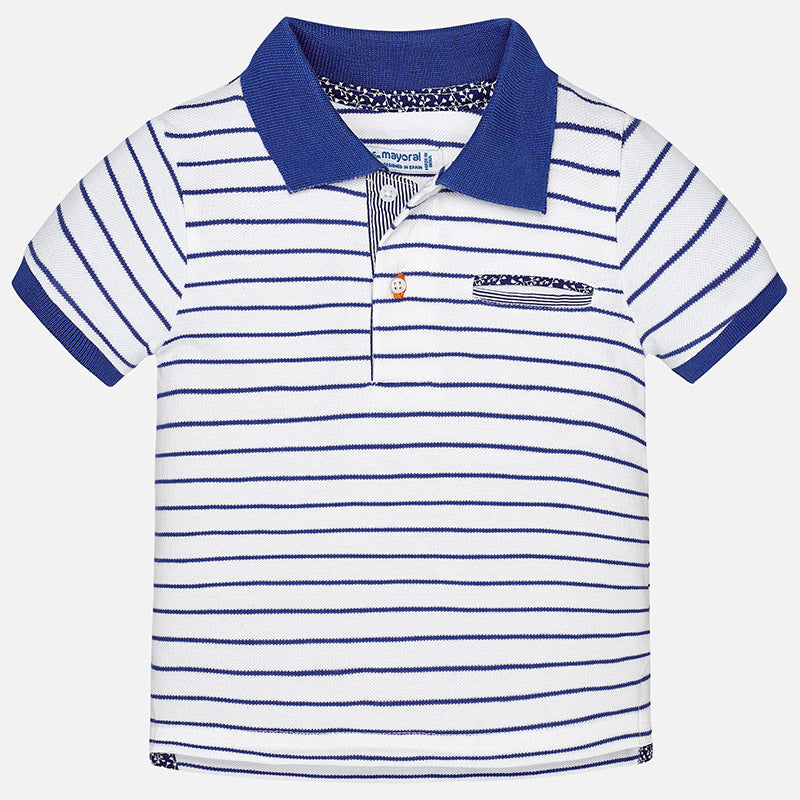 dae3d15dd Mayoral Baby Boys striped blue polo 1134 – Bumkins Designer Kids