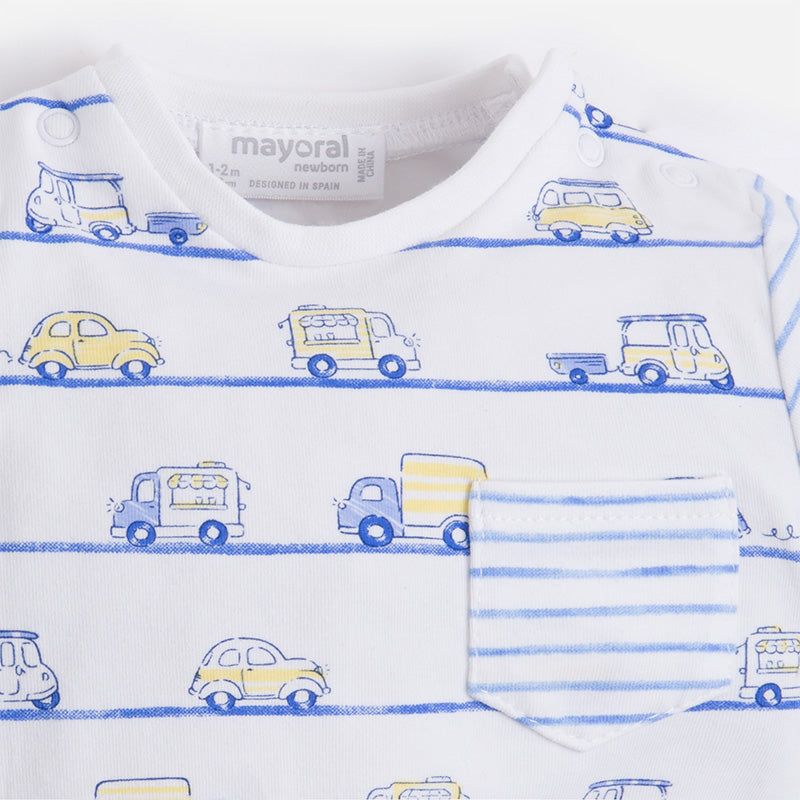 Mayoral Baby Boy Yellow shorts set with Cars T-shirt 1238 (733785882651)