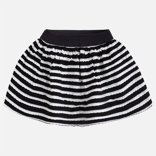 31a74bbd07ec3 Mayoral Girl Black & White Striped skirt 3910 - Bumkins Designer Kids