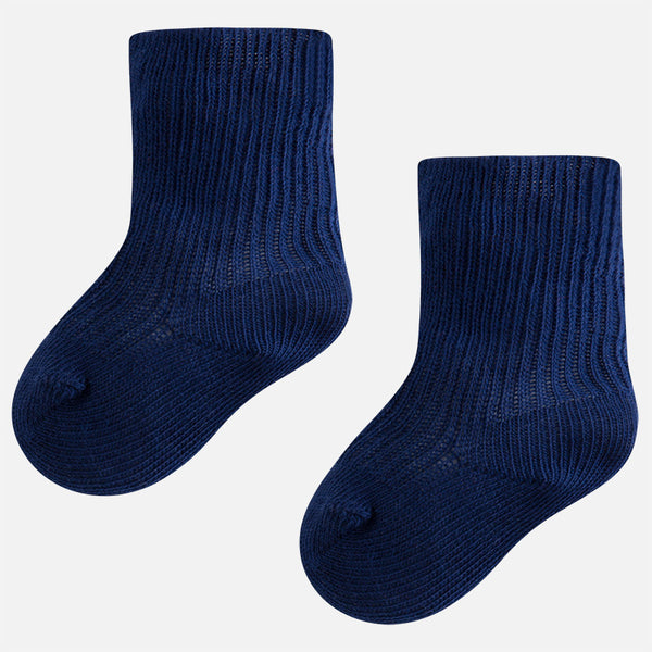 Mayoral Baby Boy Navy ribbed socks 9725
