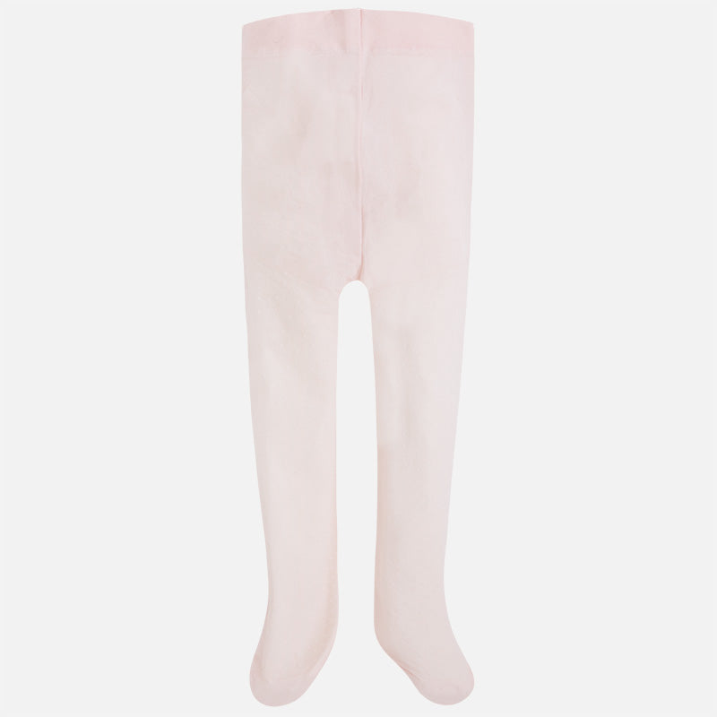 Mayoral Girl Jacquard tights with openwork Blush 10395 - Bumkins Designer Kids (560038543387)