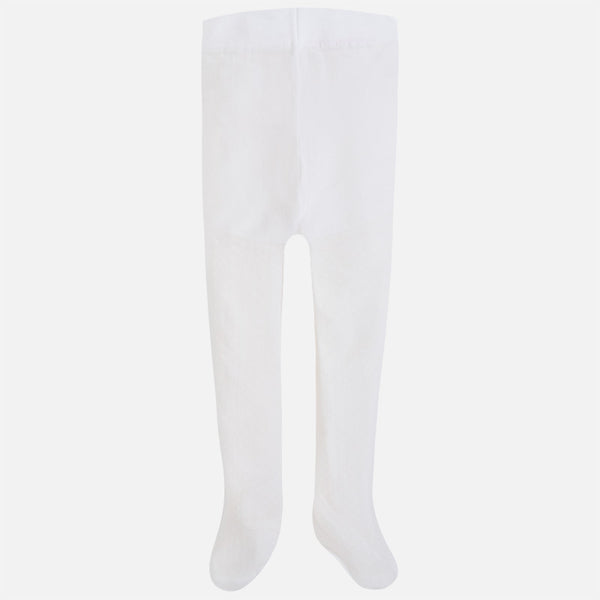40a9ab83ed1a3 Mayoral Girl Jacquard tights with openwork White 10395 - Bumkins Designer  Kids
