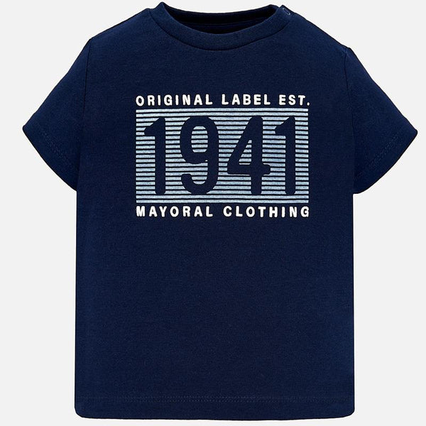 Mayoral Baby Boys Short sleeved 1941 t-shirt Navy 106 (2218529587298)