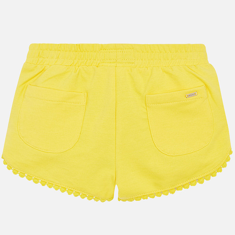 Mayoral Girl Knit Shorts Yellow 607 (2027788763234)