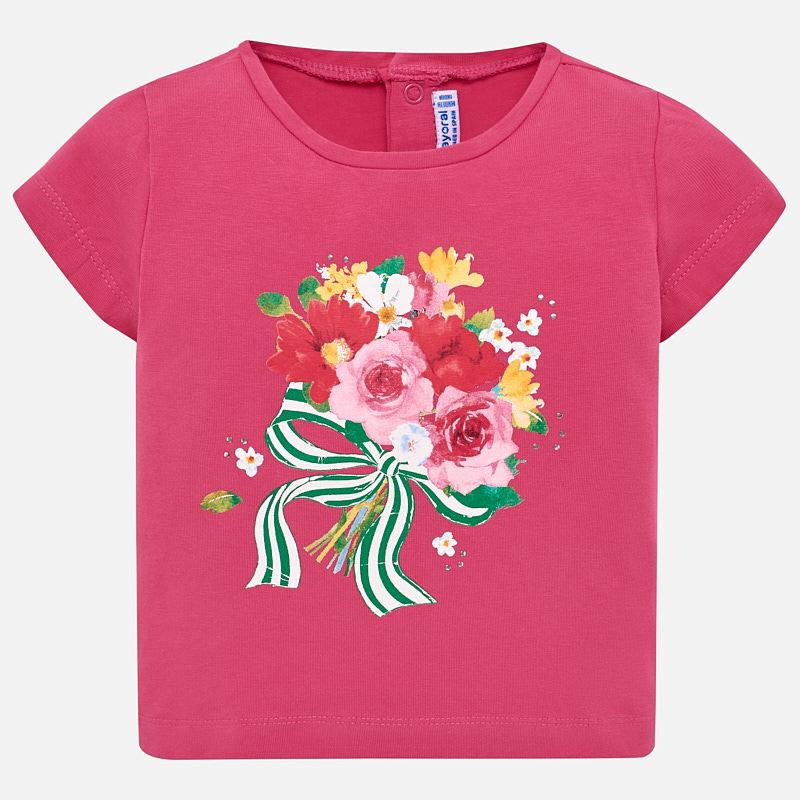Mayoral Baby Girl Floral T-shirt 1014 (2189648101474)