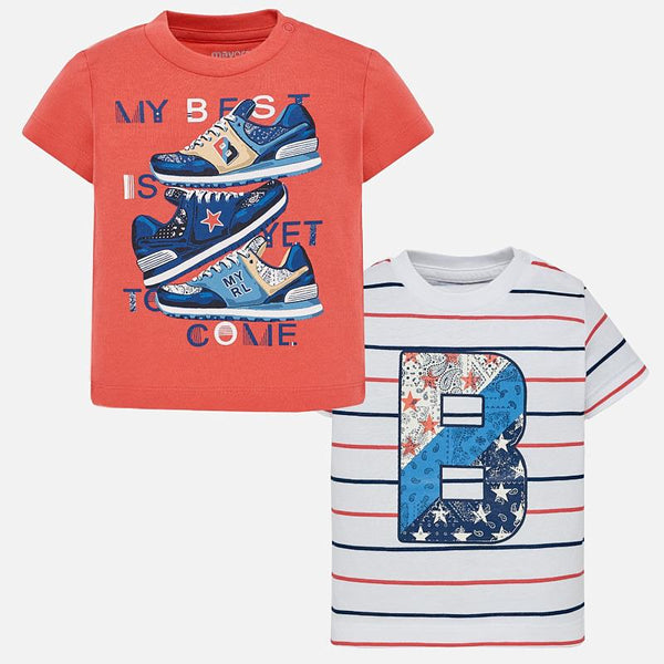 Mayoral Baby Boys Short sleeved t-shirt set 1022 (2218514776162)