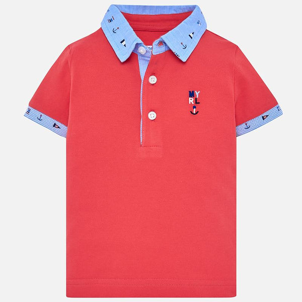 Mayoral Baby Boys Short sleeved polo shirt 1114 (2218499932258)