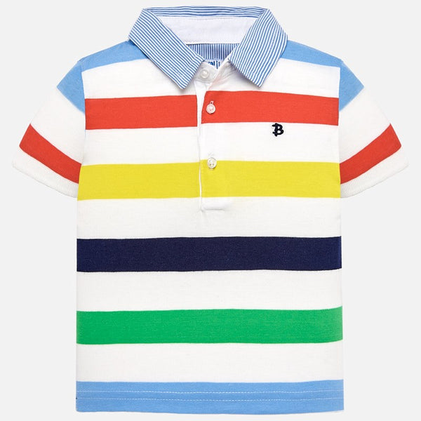 bba274fc8 Mayoral Baby Boys Short sleeved striped polo shirt 1115