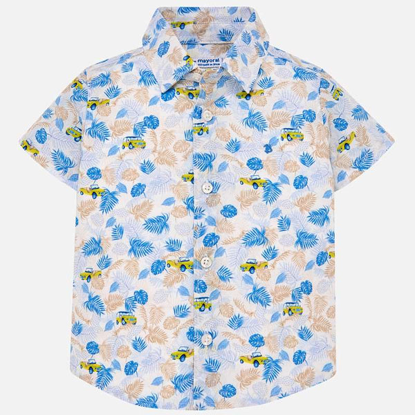 Mayoral Baby Boys Short sleeved patterned shirt 1126