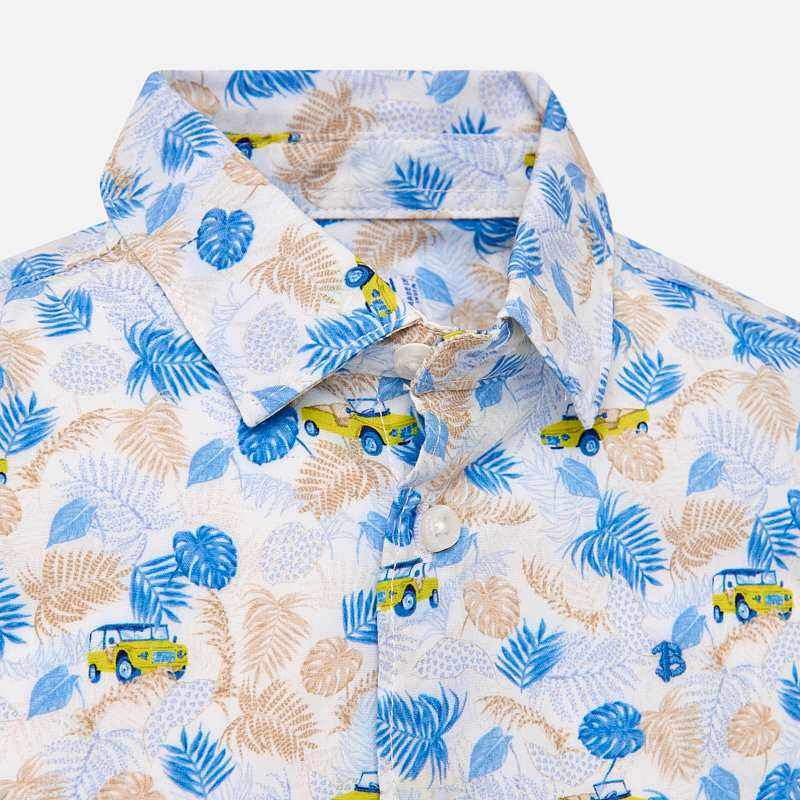 Mayoral Baby Boys Short sleeved patterned shirt 1126 (2218502652002)