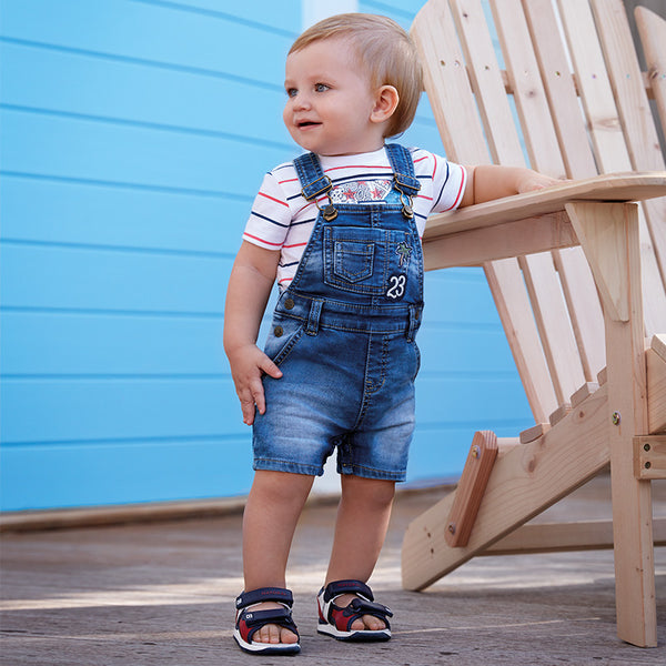 Mayoral Baby Boys Short denim dungarees 1640