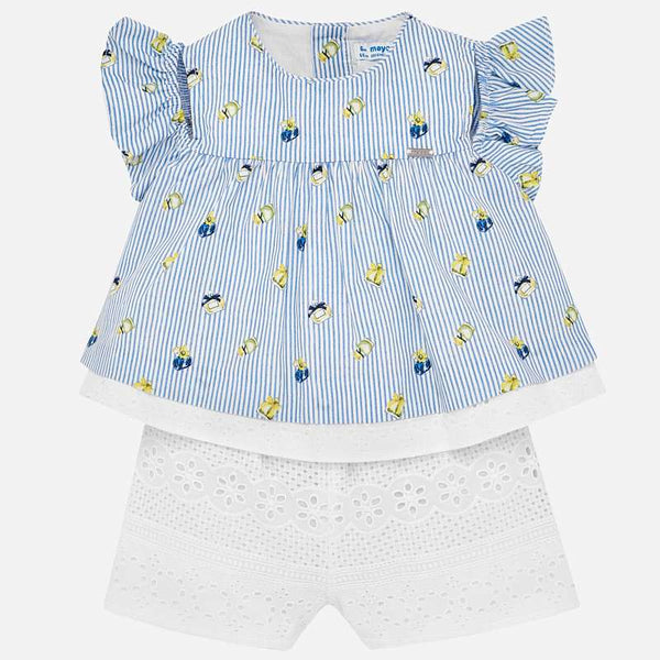 Mayoral Baby Girl Striped Romper 1848 (2185928441954)
