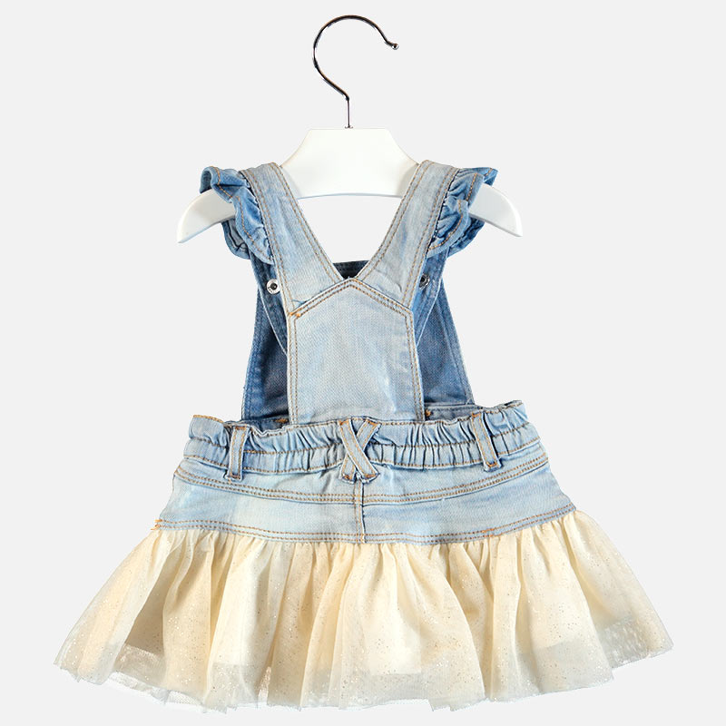 Mayoral Baby Girl Denim Tulle Dress 1902 (2176812908642)