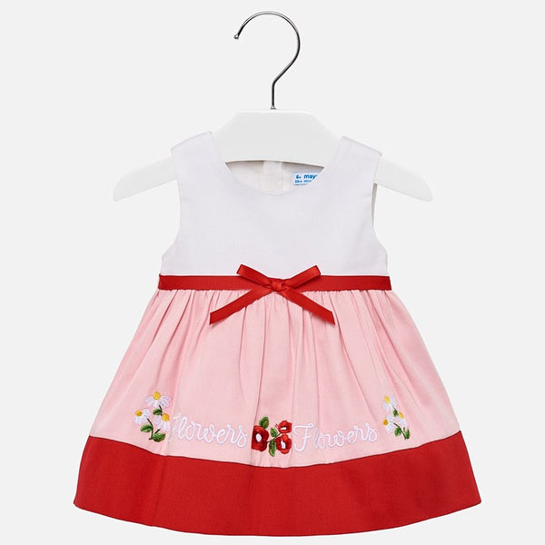 Mayoral Baby Girl Embroidered hem dress 1916 (2190193033314)