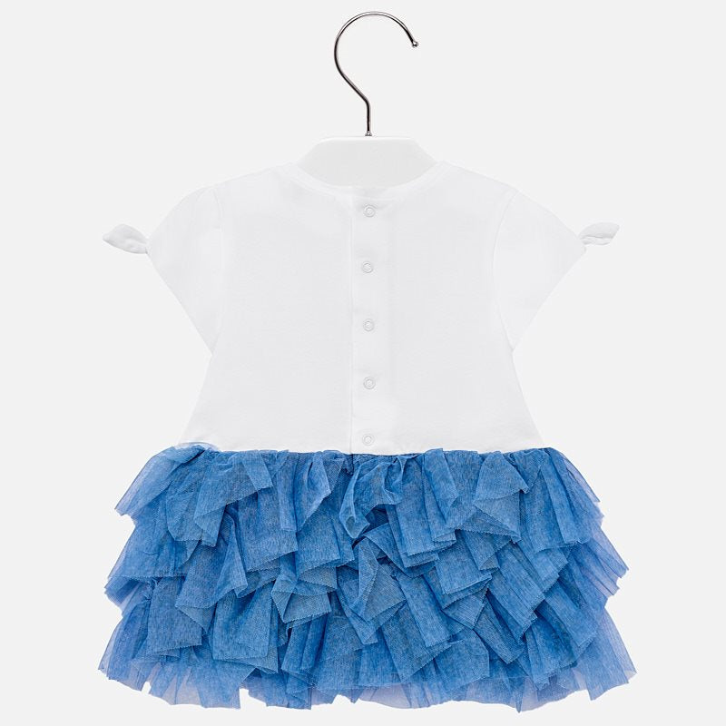 Mayoral Baby Girl Ruffled tulle skirt dress 1942 (2183099744354)