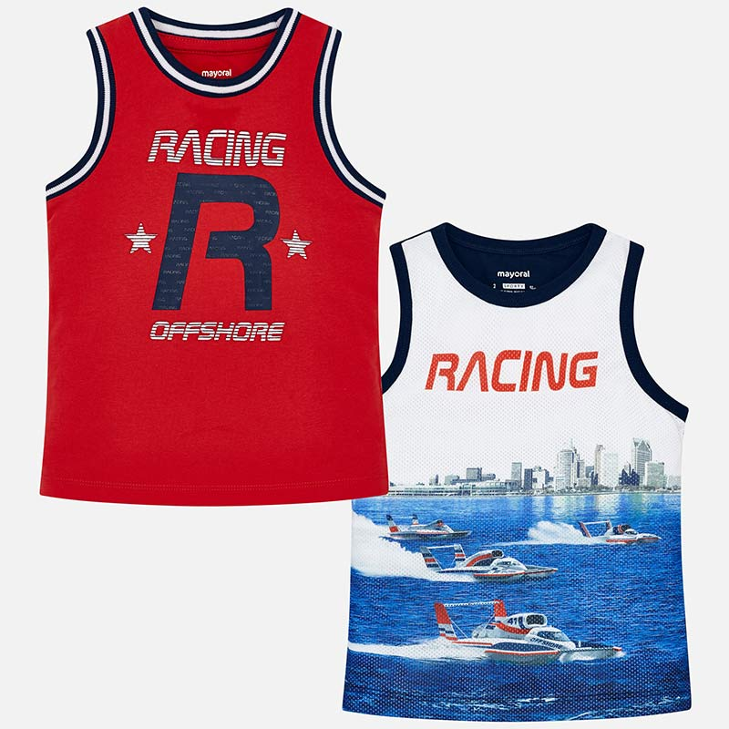 Mayoral Boy SS19 Set of Two Vests Red 3049 (2131840303202)