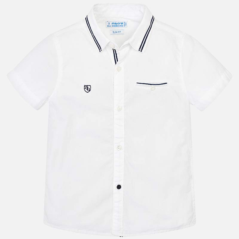 Mayoral Boy SS19 Short sleeved White Shirt 3129 (2132210253922)