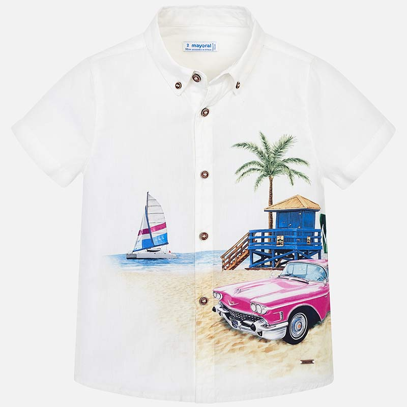 Mayoral Boy Short sleeved summer printed shirt 3136 (2131789381730)