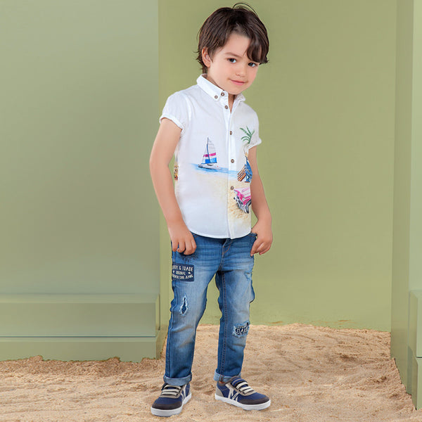 Mayoral Boy Patch Jeans 3521