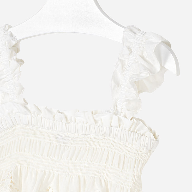 Mayoral Girl Embroidered Loose Top 6106 (2049044807778)