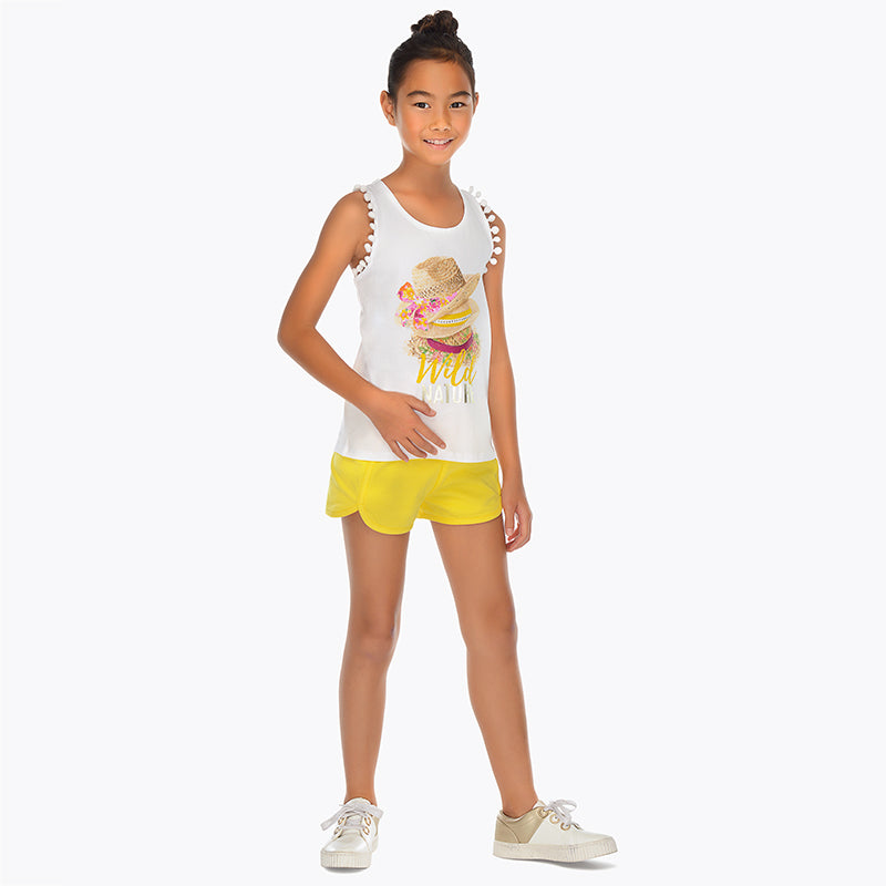 Mayoral Girl Yellow Short Set 6212 (2047144656994)