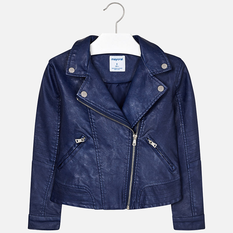Mayoral Girl Navy leatherette Jacket 6410 (2048978124898)