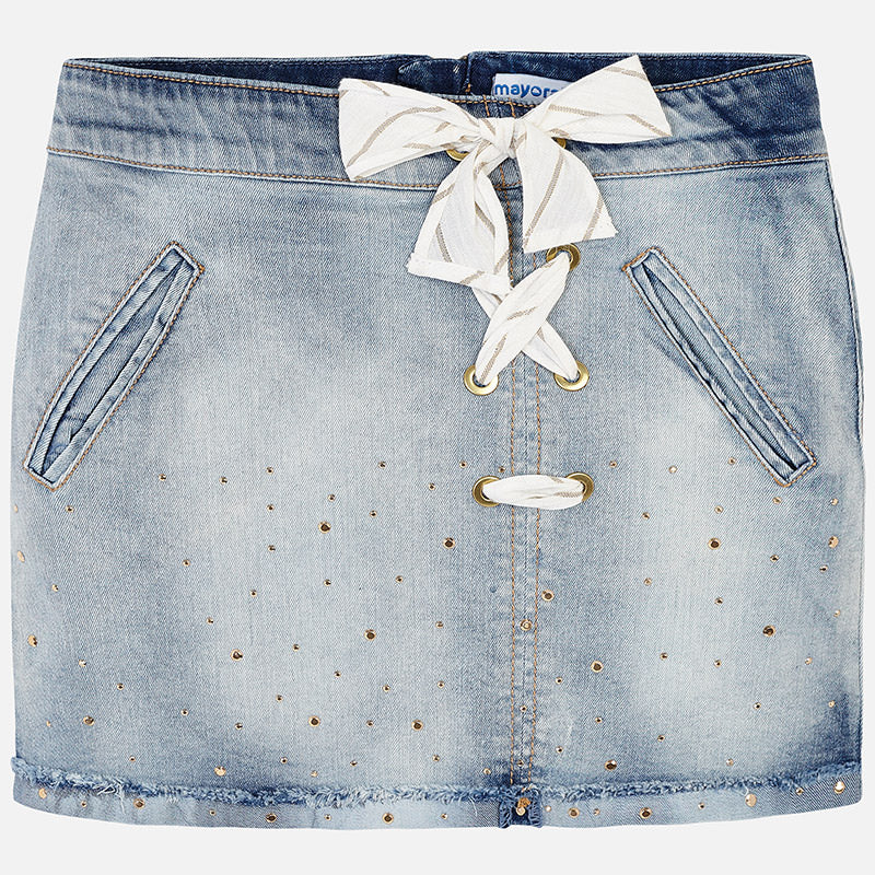 Mayoral Girl Bleached Denim Skirt 6903 (2049103134818)