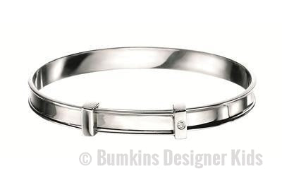D for Diamond Sterling Silver 'Christening' Baby Bangle - Bumkins Designer Kids (7919571080)