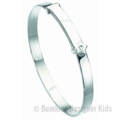 D for Diamond Stirling Silver 'Star' Bangle - Bumkins Designer Kids (7919524872)