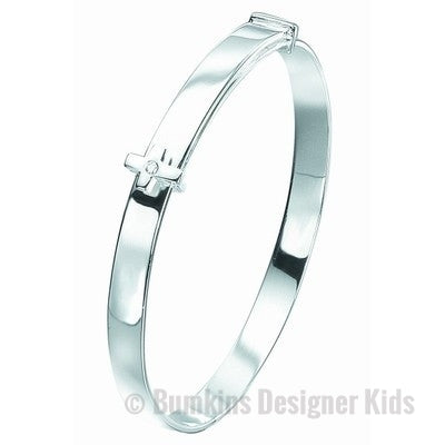 D for Diamond Sterling Silver 'Cross' Baby Bangle - Bumkins Designer Kids (7919530888)