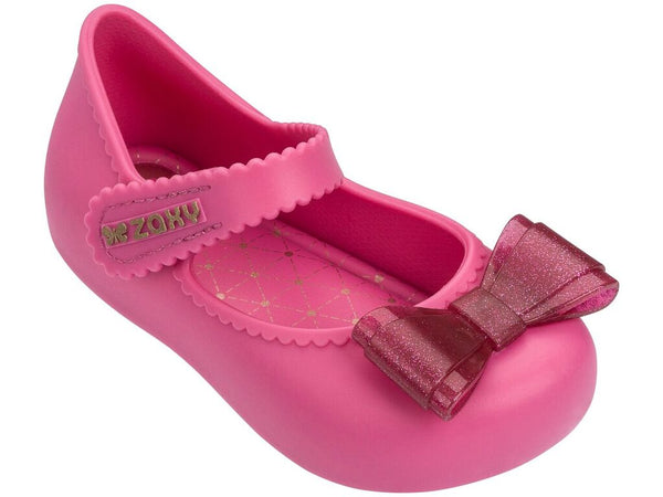 Zaxy Baby Enchanted Bow Shoes Pink 82532 (1392444309602)