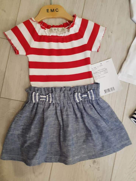EMC SS20 Red and White Stripe Sailor Dress (4348929900642)