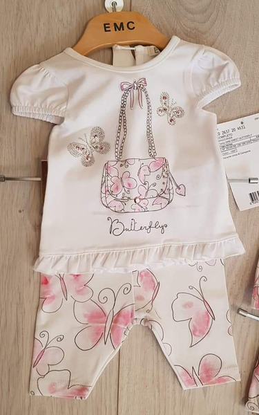 EMC SS20 Pink Butterfly Purse Legging Set 2637