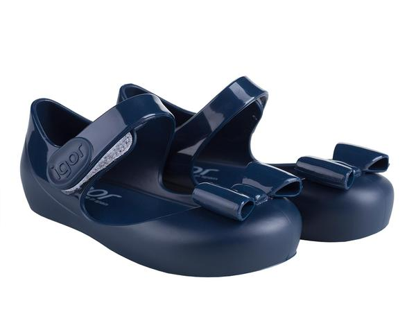 Igor Mia Lazo Jelly Shoes Navy 003 - Bumkins Designer Kids (8849453841)