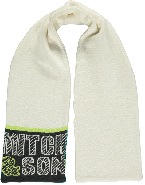 Mitch and Son AW19 Abbot Two Way White Scarf 1214S (3827314786402)