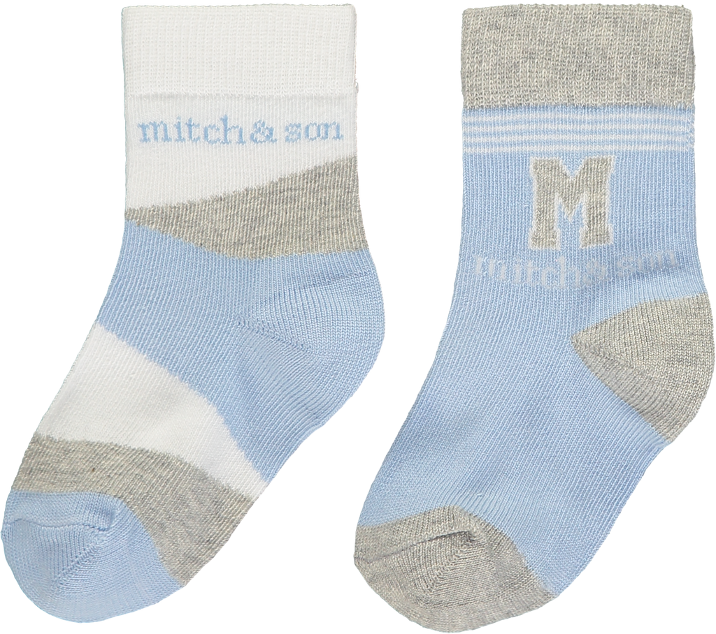 Mitch and Son SS20 Aiden Pale Blue Socks 2 PK 1316 (4342219898978)