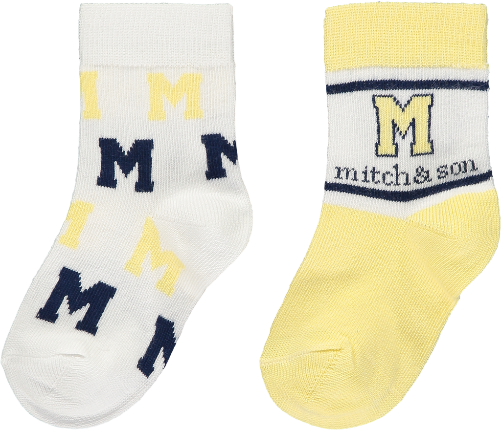 Mitch and Son SS20 Isaac Lemon Socks 2 PK 1332 (4342219800674)