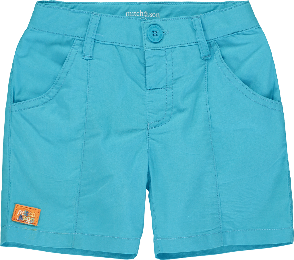 Mitch and Son SS20 Grayson Blue Capri Poplin Shorts 1333 (4342219440226)