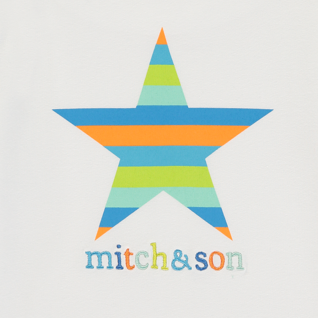 Mitch and Son SS20 Andrew Striped Star Round Neck T-Shirt 1339 (4342219014242)
