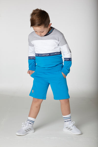 Mitch SS20 Jeremiah Mixed Blue Sweatshirt and Shorts Set 0014 (4342295232610)