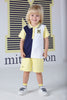 Mitch and Son SS20 Blair Navy, White Polo & Lemon Shorts Set 1351 (4342217441378)
