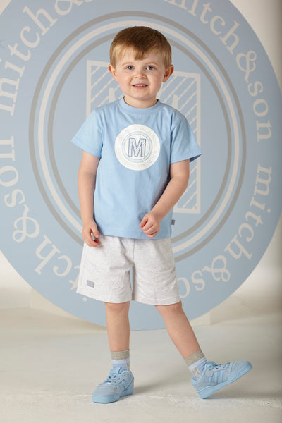 Mitch and Son SS20 Lucas pale Blue T-Shirt and Jersey Short Set 1310 (4342214393954)