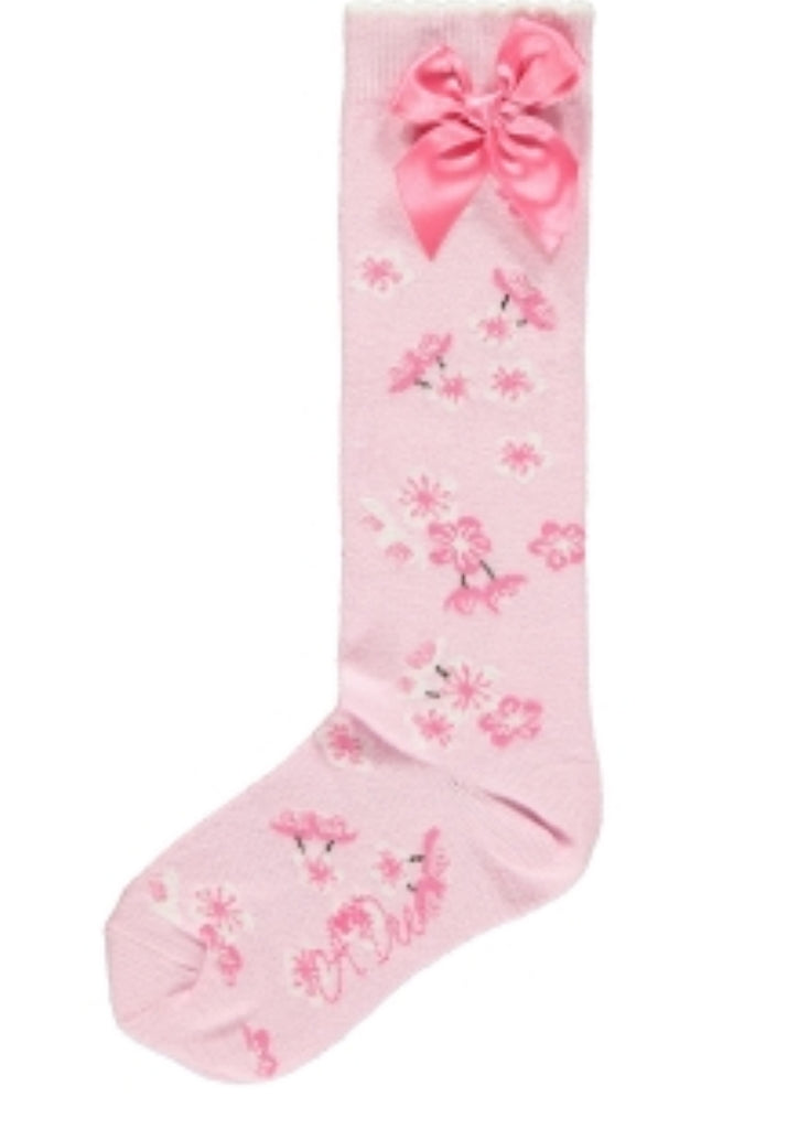 A Dee AW19 Ally Blossom Pink Knee Socks 1904 (2241366229090)