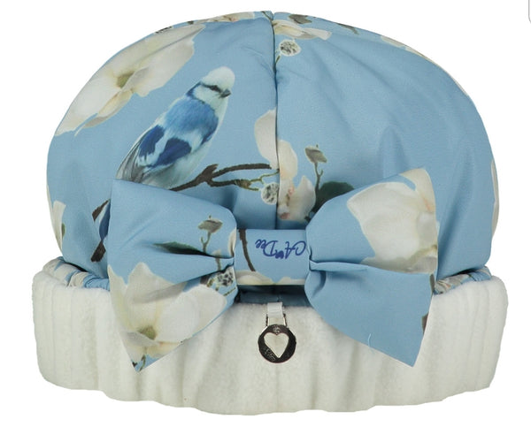 A Dee Ally Powder Blue Bow Hat 2918 - Bumkins Designer Kids