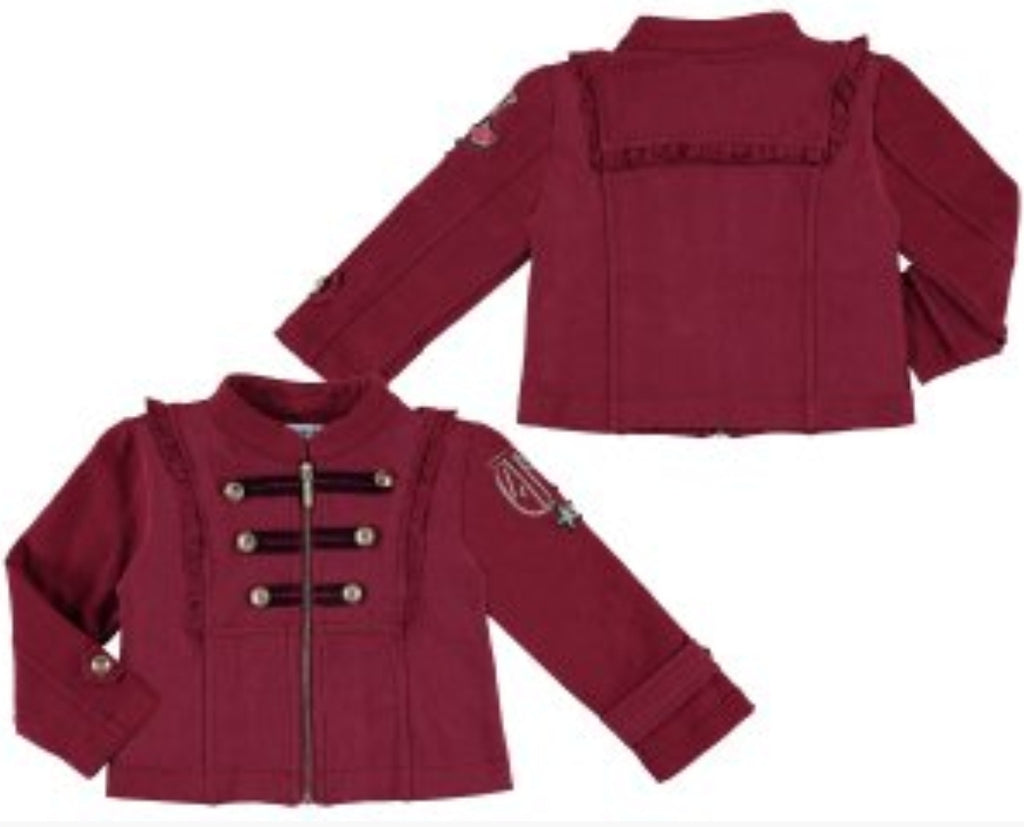 Mayoral Girl Raspberry Fleed Jacket 4480 (1331903168610)